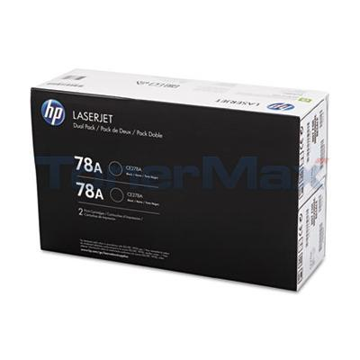 HP LJ 78A TONER CARTRIDGES BLACK DUAL PACK